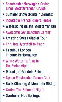 European Adventure Teen Tour Activities