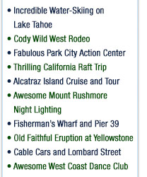 California Cruisin Teen Tour Activities
